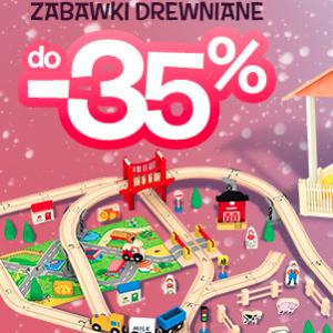 Drewniane zabawki do -35%