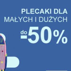 Plecaki dla małych i dużych do -50%