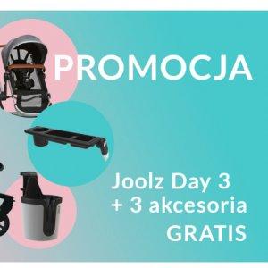 Promocja Joolz Day 3 - kup wózek i otrzymaj akcesoria o wartości 616 zł gratis