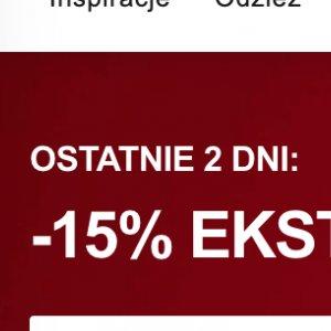 -15% extra na przecenione produkty