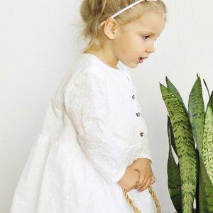 """Biała haftowana sukienka """"Miłość"""""""