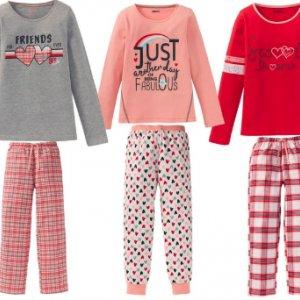 PEPPERTS® Piżama dziewczęca z flanelowymi spodniami -50%