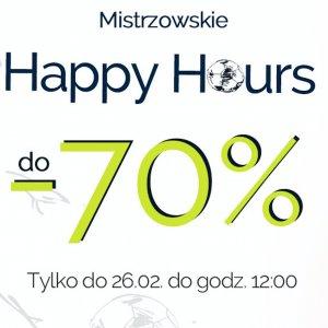 Mistrzowskie Happy Hours do -70%
