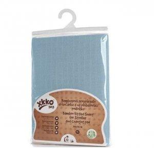 XKKO Bambusowe prześcieradło z gumką Baby Blue -16%
