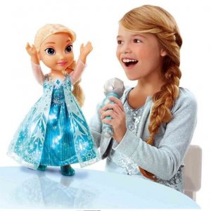 Śpiewająca Lalka Elsa Kraina Lodu z mikrofonem -40%