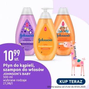 Płyn do kąpieli i szampon do włosów Johnson's Baby w dobrej cenie