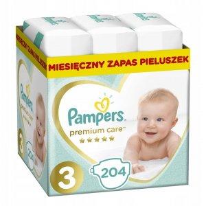 PAMPERS Pieluchy Premium Care 3 Midi 204 szt. -27%