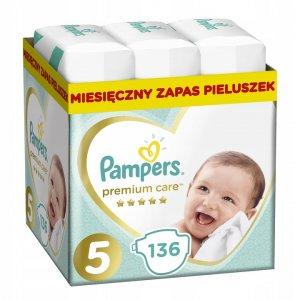 PAMPERS Pieluchy PREMIUM Care 5 Junior 136 szt. -27%