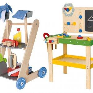 Hit cenowy - PLAYTIVE®JUNIOR Drewniany warsztat lub zestaw do sprzątania