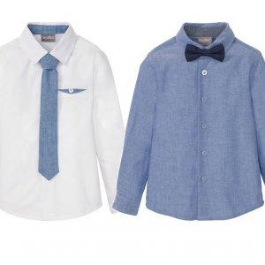 Hit cenowy - LUPILU® Koszula chłopięca z krawatem lub muszką, 1 sztuka
